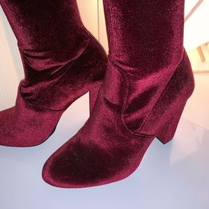 Velour Steve Madden Thigh highs